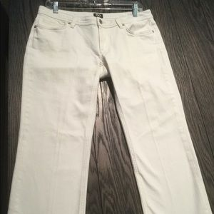 DOLCE AND GABBANA WHITE CROPPED JEANS